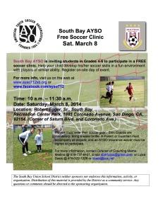AYSO Free Clinic-2014-SBUSD