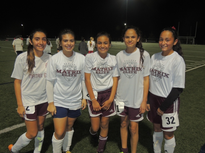 AYSO Matrix U13G Players Chosen for Academy Select Team