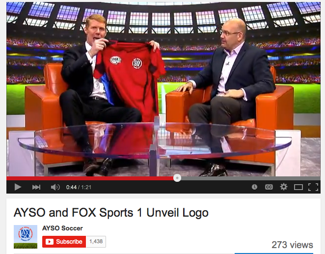 AYSO AND FOX SPORTS ANNOUNCE JERSEY SPONSORSHIP