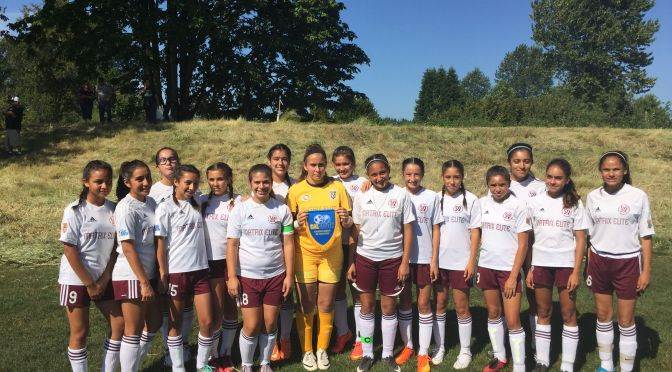 Dream Season for U13G South Bay Matrix Elite Team Ends at US Youth Soccer Regionals